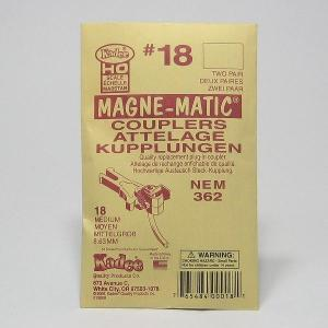 ケーディー KDカプラー NO.18 HO用 マグネマティックカプラー (NEMカプラーポケット用) (シャンク長:普通) (4個入/2輌分)|narrow-gauge-shop