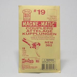 ケーディー KDカプラー NO.19 HO用 マグネマティックカプラー (NEMカプラーポケット用) (シャンク長:長い) (4個入/2輌分)|narrow-gauge-shop