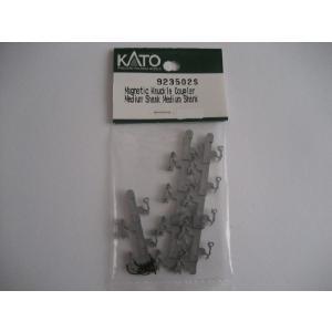 KATO USA 923502S N用 マグネティックナックルカプラー ミディアム ストレートシャンク シルバー (10個入/5輌分)|narrow-gauge-shop
