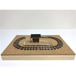 A5サイズ HOe (9mm) ミニレイアウト 超小型ナローパイク 極小レイアウトベース 画材用木製パネルタイプ|narrow-gauge-shop