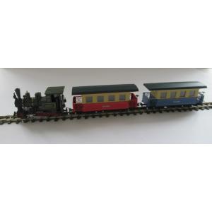 ミニトレインズ 1401 HOナロー(9mm) ツィラータール鉄道 トレインセット 客車2両セット|narrow-gauge-shop