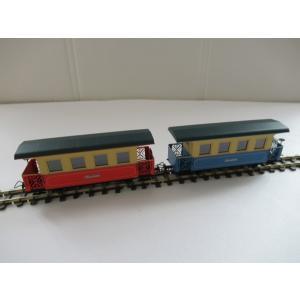 ミニトレインズ 1401 HOナロー(9mm) ツィラータール鉄道 トレインセット 客車2両セット|narrow-gauge-shop|03