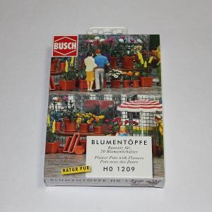 ブッシュ/BUSCH 1209 HO (1/87) 植木鉢セット|narrow-gauge-shop
