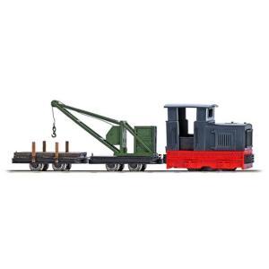 ブッシュ/BUSCH 12118 HOf (1/87,6.5mm) ディーゼル機関車 クレーン車セット|narrow-gauge-shop