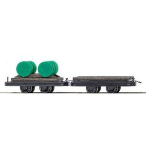 ブッシュ/BUSCH 貨車 12205 HOf (1/87,6.5mm) フラットカー & 樽車|narrow-gauge-shop