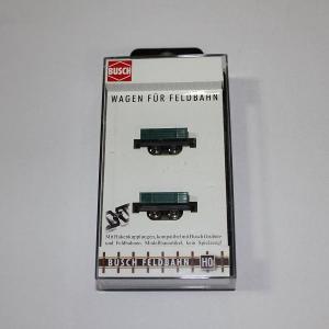 ブッシュ/BUSCH 貨車 12206 HOf (1/87,6.5mm) ローサイドプラットホームワゴン 2輌セット|narrow-gauge-shop