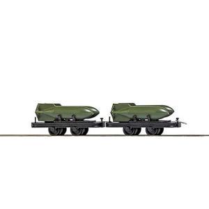 ブッシュ/BUSCH 貨車 12209 HOf (1/87,6.5mm) オープンワゴン 2輌セット (積荷付き)|narrow-gauge-shop