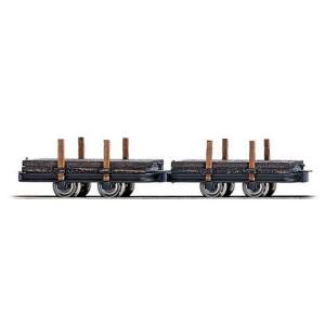 ブッシュ/BUSCH 貨車 12210 HOf (1/87,6.5mm) プラットホームステークカー 2輌セット|narrow-gauge-shop