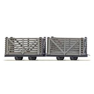 ブッシュ/BUSCH 貨車 12214 HOf (1/87,6.5mm) 泥炭輸送車 2輌セット|narrow-gauge-shop