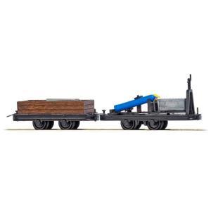 ブッシュ/BUSCH 貨車 12216 HOf (1/87,6.5mm) オープンワゴン & プラットホームワゴン 2輌セット (積荷付き)|narrow-gauge-shop