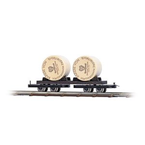 ブッシュ/BUSCH 貨車 12223 HOf (1/87,6.5mm) ボギー車 2輌セット (積荷付き)|narrow-gauge-shop