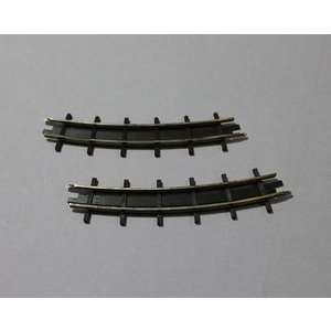 ブッシュ/BUSCH 12332 HOf (1/87,6.5mm) カーブレール 2本入り (R175mm/22.5°)|narrow-gauge-shop