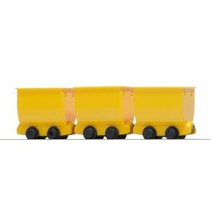 ブッシュ/BUSCH 貨車 5020 HOf (1/87,6.5mm) チッパーワゴン 3輌セット Yellow|narrow-gauge-shop