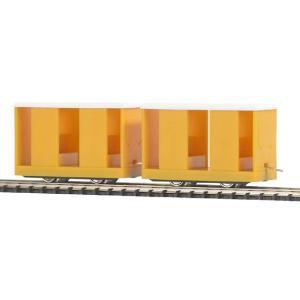 ブッシュ/BUSCH 貨車 5028 HOf (1/87,6.5mm) 乗務員運搬車 2輌セット Yellow|narrow-gauge-shop