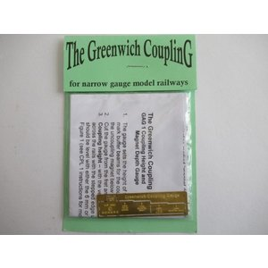 Greenwich Coupling  GAG 1 Coupling Height and Magnet Depth Gauge|narrow-gauge-shop