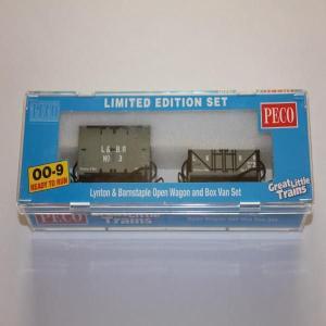 PECO GR-290 OO-9 (9mm,1/76) L&BR Livery Open Wagon & Box Van Set|narrow-gauge-shop
