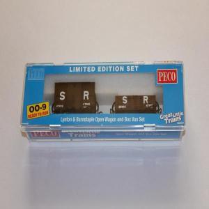 PECO GR-291 OO-9 (9mm,1/76) SR Livery Open Wagon & Box Van Set|narrow-gauge-shop