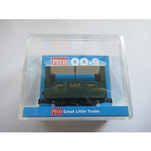 PECO GR-520 OO-9 (9mm,1/76) 4 Wheel Tramway Coach With Open Sides|narrow-gauge-shop