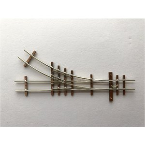 【PECO互換】HOナロー(9mm) オリジナルポイントレール(右) R140mm コード80 エレクトロフログ(篠原模型方式)【極小半径】|narrow-gauge-shop|03