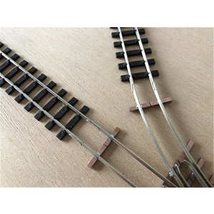 【PECO互換】HOナロー(9mm) オリジナルポイントレール(右) R140mm コード80 エレクトロフログ(篠原模型方式)【極小半径】|narrow-gauge-shop|09