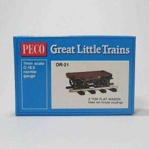 PECO OR-21 On30 (16.5mm) 2 Ton Flat Wagon Kit  ホワイトメタル 貨車自作キット (カプラー別売)|narrow-gauge-shop