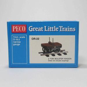 PECO OR-22 On30 (16.5mm) 2 Ton Bolster Wagon Kit ホワイトメタル 貨車自作キット (カプラー別売)|narrow-gauge-shop