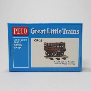 PECO OR-23 On30 (16.5mm) 1 Ton Slate Wagon Kit ホワイトメタル 貨車自作キット (カプラー別売)|narrow-gauge-shop