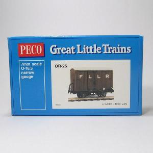 PECO OR-25 On30 (16.5mm) 4 Wheel Box Van Wagon Kit プラ貨車自作キット (カプラー別売)|narrow-gauge-shop