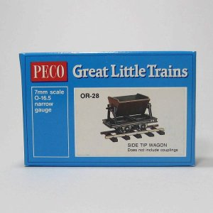 PECO OR-28 On30 (16.5mm) Side Tip Wagon Kit ホワイトメタル 貨車自作キット (カプラー別売)|narrow-gauge-shop