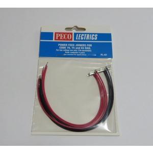 PECO PL-81 配線済みジョイナー コード70/75/83用 (204mm) 赤/黒 4本入り|narrow-gauge-shop