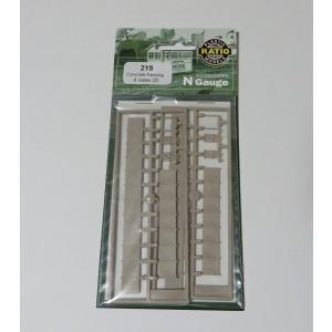 RATIO R-219 Nゲージ (1/148) コンクリートフェンス/ゲート|narrow-gauge-shop