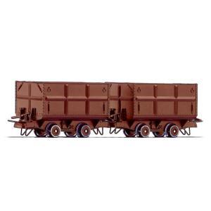 ロコ/Roco 34499 HOe 石炭運搬車 (x2) ブラウン|narrow-gauge-shop