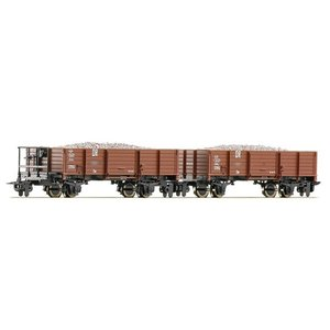 ロコ/Roco 34589 HOe バラスト運搬車 (x2)|narrow-gauge-shop