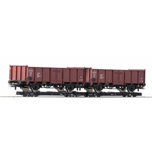 ロコ/Roco 34608 HOe ロールワーゲン(オープンワゴン付き) (x2)|narrow-gauge-shop