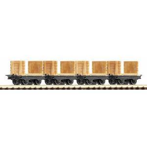 ロコ/Roco 34611 HOe レンガ運搬車 (x4)|narrow-gauge-shop