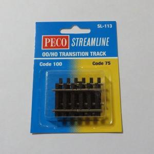 PECO SL-113 OO/HOゲージ (16.5mm) コード75⇔コード100 変換接続レール|narrow-gauge-shop