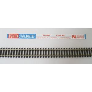 PECO SL-300 Nゲージ (9mm) フレキシブルレール (木枕木) コード80 (5本組)|narrow-gauge-shop