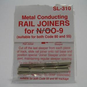 PECO SL-310 N/OO-9/HOe (9mm) 金属ジョイナー (コード80/55用) (24個入)|narrow-gauge-shop