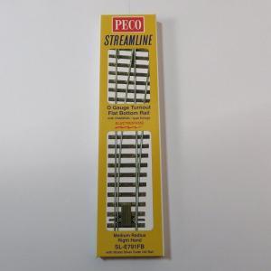 PECO SL-E791FB Oゲージ (32mm) 中型ポイントレール(右) コード143|narrow-gauge-shop
