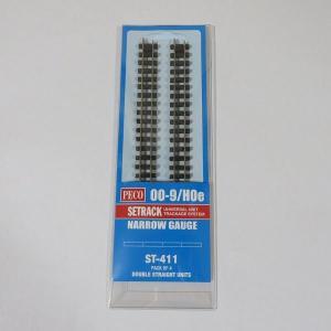 PECO ST-411 OO-9/HOe (9mm) 直線レール コード80 (4本組)|narrow-gauge-shop