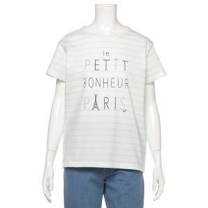 ポンポネットジュニア(pom ponette junior)フレンチロゴボーダーTシャツ