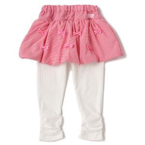 ■ベビー ■さわやかなギンガムチェック柄のバルーンスカートを合わせたスカッツです。リボンを散りばめた...