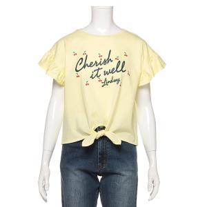 リンジィ(Lindsay)前しばり袖フリルTシャツ