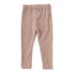 ■トドラー ■モダンなジャカード編みがフェミニンな雰囲気をプラスするレギンスです。ソフトでやさしい肌...
