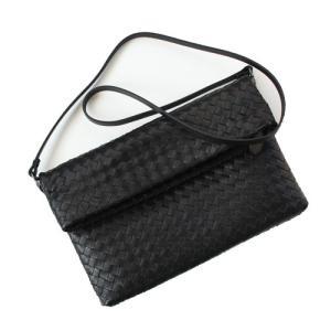 本革 羊革 クラッチバッグ 斜めがけショルダーバッグ 斜め掛けバッグ ポシェット レディース レザー◎PREMIUM LAMBSKIN Weaving Fold-Over Clutch Bag [6COLOR] narusya