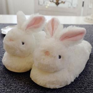 ルームシューズ モコモコ もこもこ ふわふわ スリッパ ファー ウサギ 兎 うさぎ あったか レディースファッション 可愛い|nary