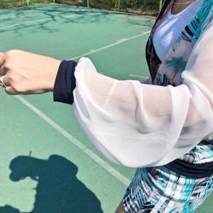 ゴルフウェア セットアップ レディース 花柄 フラワー  スカート 長袖 可愛い|nary|04