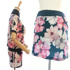ゴルフウェア レディース セットアップ 上下 スカート 花柄 半袖|nary|11