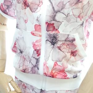 ゴルフウェア レディース セットアップ 上下 スカート 花柄 半袖|nary|05