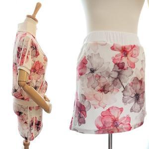 ゴルフウェア レディース セットアップ 上下 スカート 花柄 半袖|nary|07